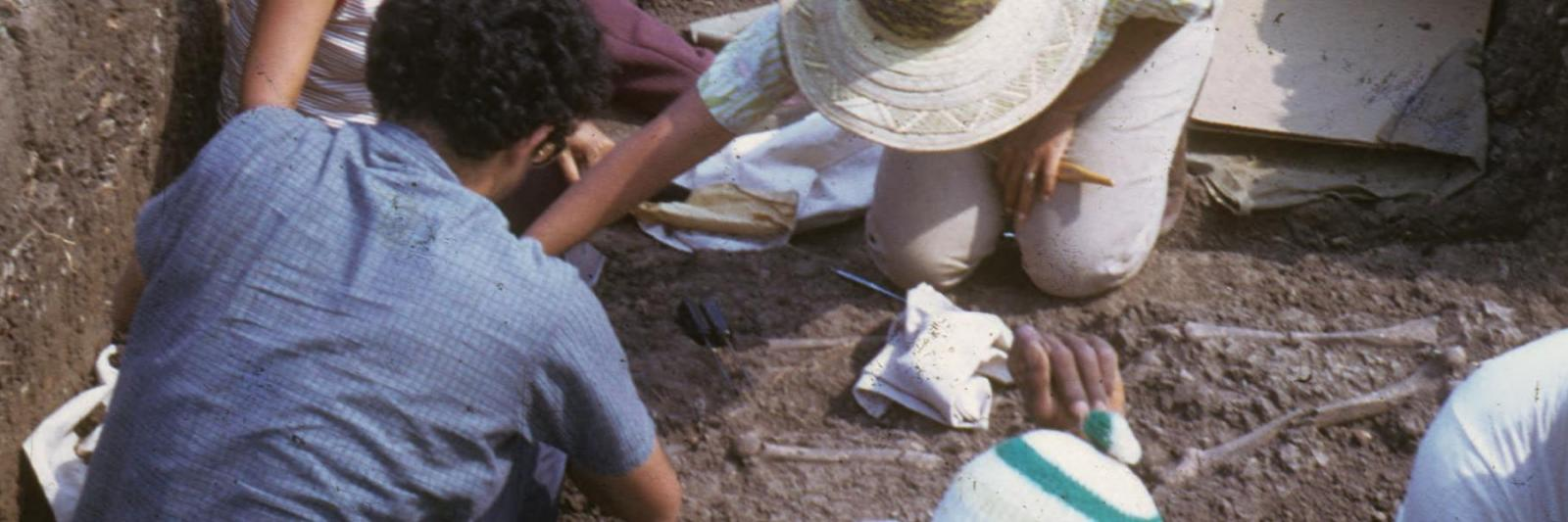 Researchers digging for artifacts